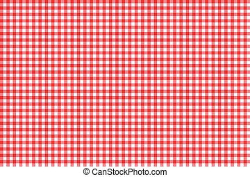 Tablecloth seamless pattern red