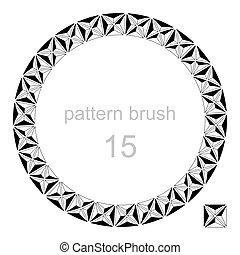 round pattern decor frame vector illustration