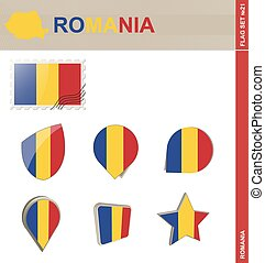 Romania Flag Set, Flag Set #21