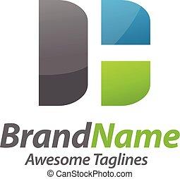 DH letter logo - creative hiden concept HD,DH letter logo...