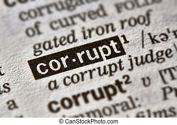 Corrupt Word Definition Text in Dictionary Page