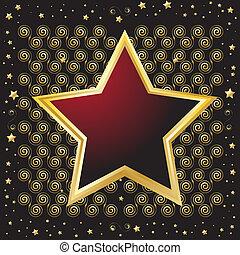 Star shaped emblem shield - Vector - Star shaped emblem...