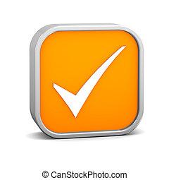 Orange Tick Sign