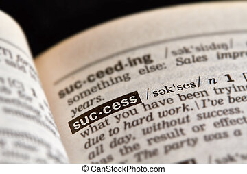 Success Word Definition Text
