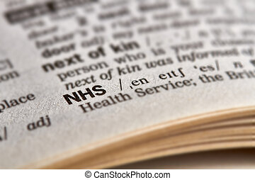 NHS Word Definition Text in Dictionary Page