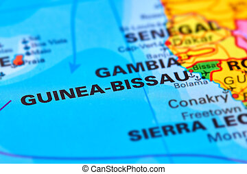 Guinea-Bissau on the Map - Guinea-Bissau Country in Africa...