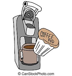 Coffee pod machine - An image of a coffee pod machine.