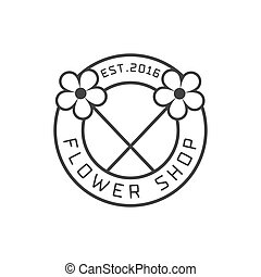 Flower shop logo vector