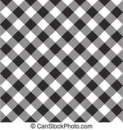 black tablecloth diagonal seamless pattern