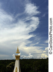 ASIA THAILAND ISAN ROI ET - the large Temple or Chedi Phra...