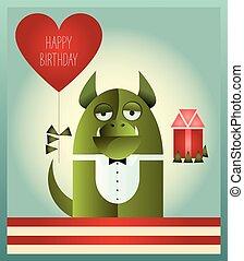 Green Monster Happy Birthday