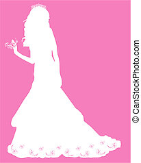 Bride - White silhouette of a bride