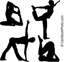 Yoga - Silhouette of yoga