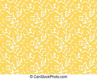 Seamless Leaves Floral Curly Pattern