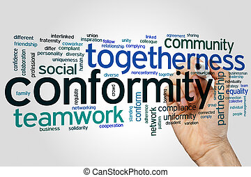 Conformity word cloud - Conformity concept word cloud...