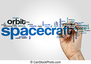 Spacecraft word cloud concept