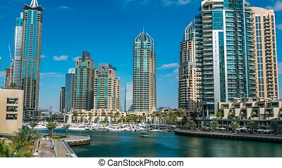 View of Dubai Marina modern Towers in Dubai at day time...