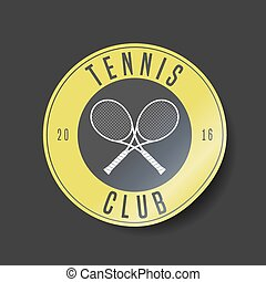 Tennis court vector logo