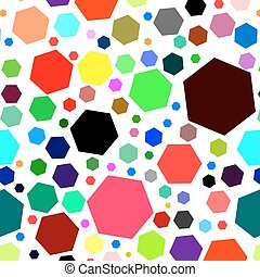 Seamless pattern with colored geometric shapes