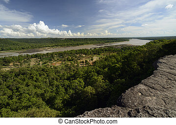 ASIA THAILAND ISAN UBON RATCHATHANI - the landscape with the...