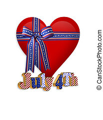 4th of July patriotic heart