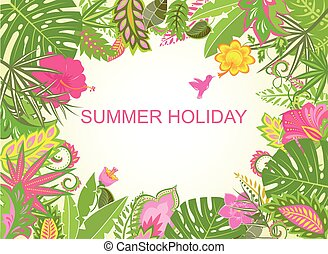 Summer holiday tropical background