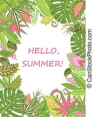 Summer tropical poster