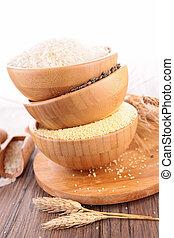 assorted cereal grain