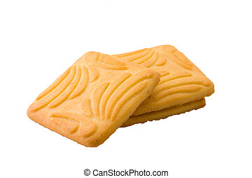 Dry biscuit - Isolated dry biscuit on a white background