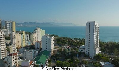 Nha Trang, Vietnam: view to the city and sea from the height