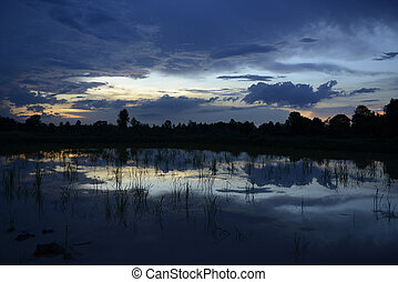 ASIA THAILAND ISAN AMNAT CHAROEN - the landscape with...