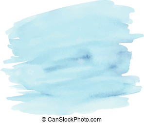 Blue abstract watercolor background - Vector watercolor...