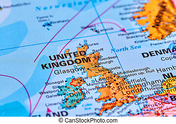 United Kingdom on the Map - United Kingdom in Europe on the...