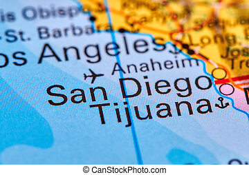 San Diego on the Map