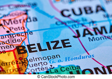 Belize on the Map - Belize, Country in Central America on...