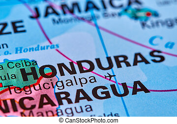 Honduras on the Map - Honduras, Country in Central America...