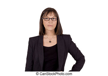 Serious senior business woman - Senior business woman with...