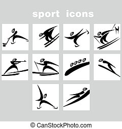 Set of winter sport icons - A set of sport icons Winter...