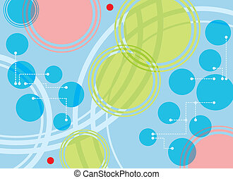 Circles, Points and Dotted Lines - Technical background with...
