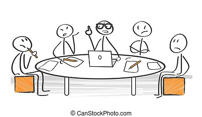 conflict of opinion - Irritated business team arguing during...
