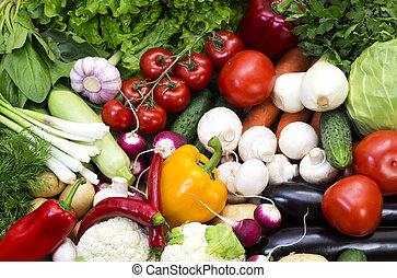 background bean seeds - Background of fresh vegetables and...