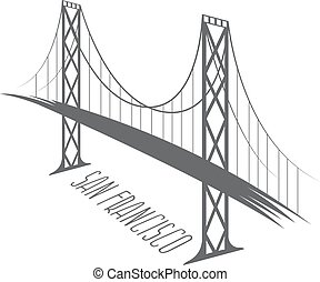 San Francisco-Oakland Bay Bridge vector illustration