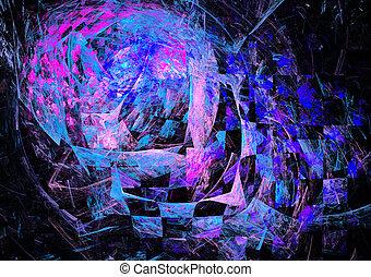Colorful Fractal Background - Colorful Fractal Background. A...