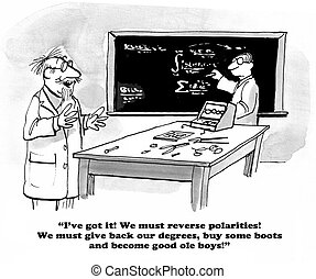 Changing philosophy - Education cartoon about completely...