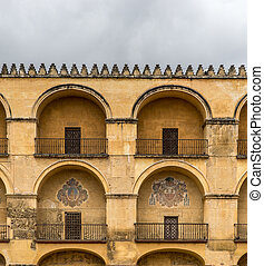 Moorish architecture - Fragment of a facade in typical...