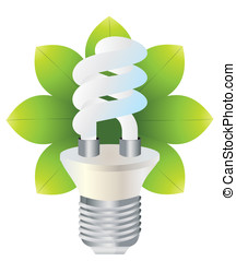 Energy saving - Vector illustration of an ecological lamp...
