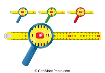 measure - Yellow measure and white background