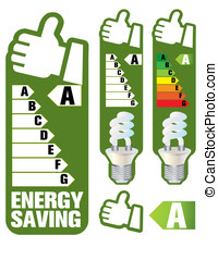 Energy saving - Vector illustration of an ecological lamp....