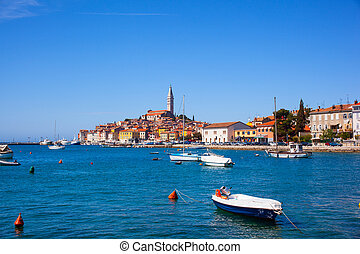 Rovinj little city in Istria, Croatia - View of Rovinj...