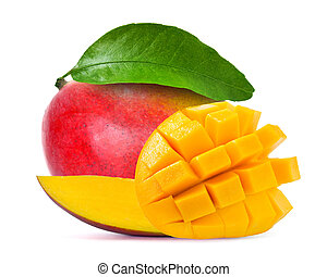 Mango isolated on white